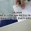 Rezultati drugog kruga izbora za izbor načelnika općine Sveti Križ Začretje