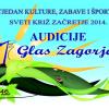 """Audicije za festival """"Prvi glas Zagorja 2014."""""""
