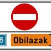 Obavijest o privremenom zatvaranju ceste u naselju Štrucljevo