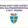 Općina Sveti Križ Začretje ponovno među najtransparentnijim općinama !