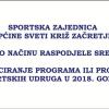 Odluka o načinu raspodjele sredstava za zadovoljavanje javnih potreba u sportu
