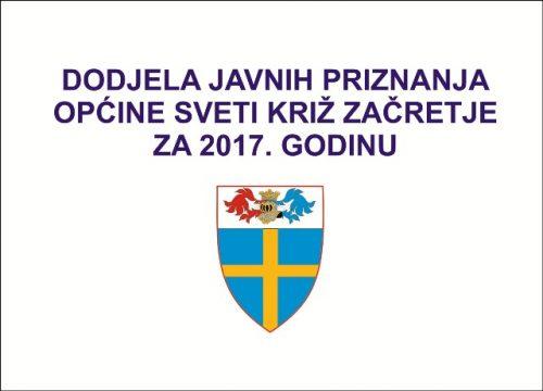 Dodjela javnih priznanja Općine Sveti Križ Začretje za 2017. godinu