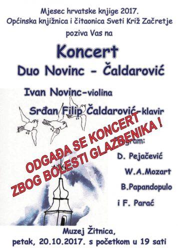 LokalnaHrvatska.hr Sveti Križ Začretje ODGAdA SE KONCERT DUA NOVINC – cALDAROVIc