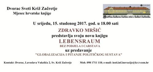Predstavljanje nove knjige Zdravka Mršića u dvorcu